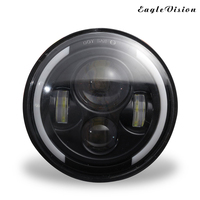 Car Motos Accessories 7 Headlight Motorcycle 7 Inch Led Headlamp for Harley Jeeep Wrangler Hummer Projector Daymaker