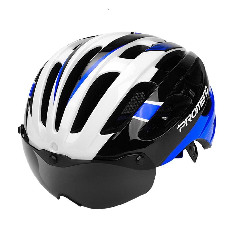 Mounchain Adult Safety Mountain Bike Riding Helmet Integrated Magnetic Glasses Road Bike Helmet 57 62 cm in Bicycle Helmet from Sports Entertainment