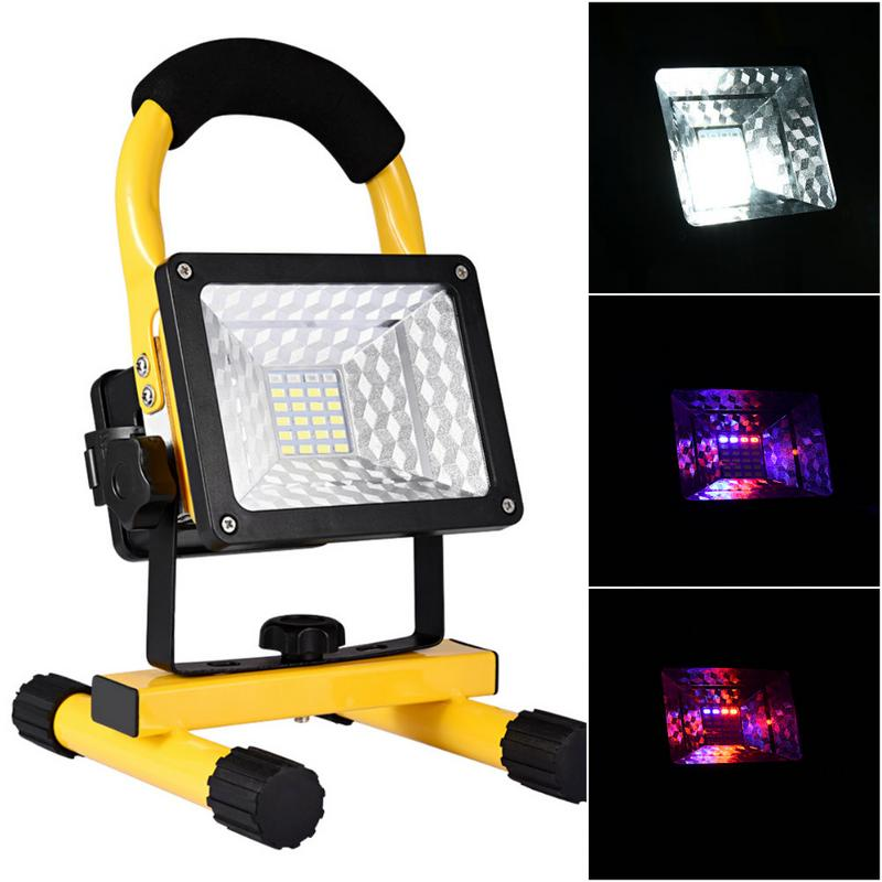 Led Flood Light Flashing: Outdoor Portable Spotlight High Power 30W LED Charging