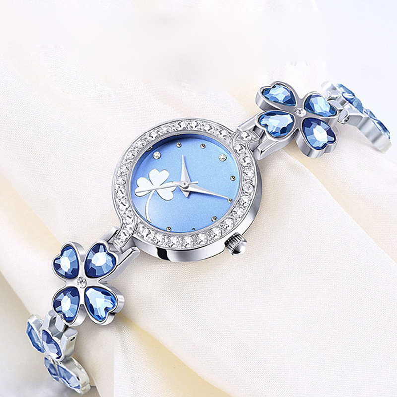 Lucky Watches Women Fashion Bracelet Watch Luxury Brand Quartz Watch Ladies Dress Stainless Steel Wrist Watches Relogio Feminino