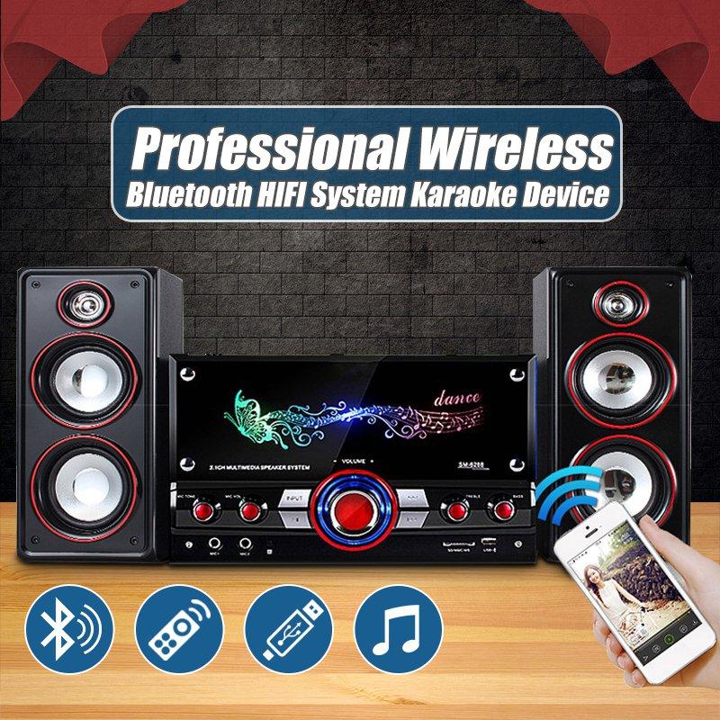 Accueil Parti Sans Fil HIFI Système Karaoké bluetooth Dispositifs 3D Surround Sound Music Center Système pour Vous Détendre Haut-parleurs