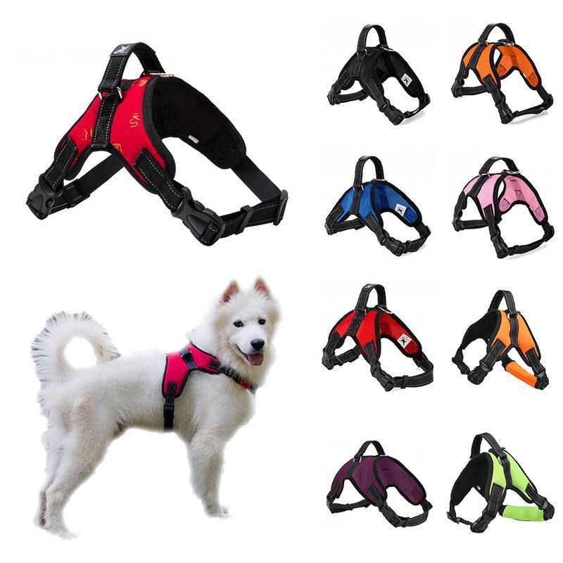 Dog Nylon Harness vest Collar Padded Extra Big Large Medium Safe Quality Strap