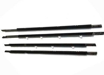 4PCS Chrome Outside Window Door Belt Weatherstrip Weather Strip Seal Trim For Honda Accord 2008 2009 2010 2011 2012 72910TA0A01