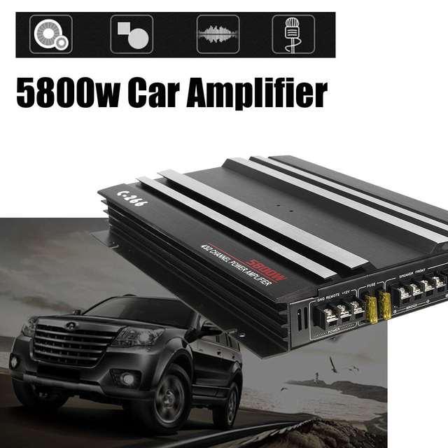 5800W Aluminum Alloy Car Amplifier Multichannel Powerful Car Audio Amplifier Vehicle Power Stereo Amp Car Sound Amplifiers 1
