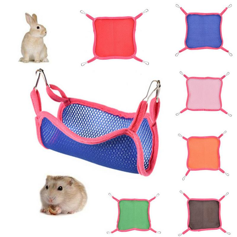 US $1 6 43% OFF|Hamster Sleeping Bed Bird Cage Swing Sandwich Mesh Net  Breathable Hammock For Small Pet Hamster Squirrel Chinchilla Hammock-in  Cages