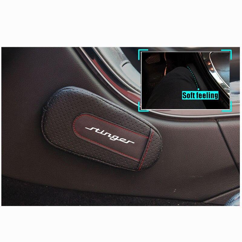 High Quality Leather Leg Cushion Knee Pad Car Door Arm Pad Interior Car Accessories For Kia Stinger