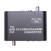 Full HD 1080p Tvi/ Cvi /Ahd To Cvbs/Vga/Hdmi Converter HD Video Converter(US Plug) ahd to hdmi vga cvbs converter monitor video to hdmi vga cvbs converter