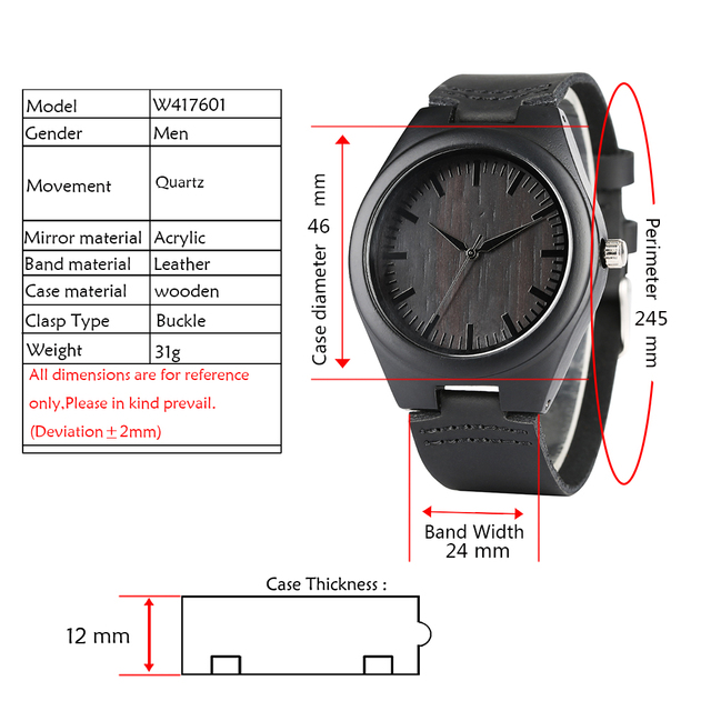 Engraved Woodern Watch DIY Words TO MY Boyfriend Pattern Quartz Wooden Watch Geniur Leather Band Souvenir Gifts For Boyfriend 5