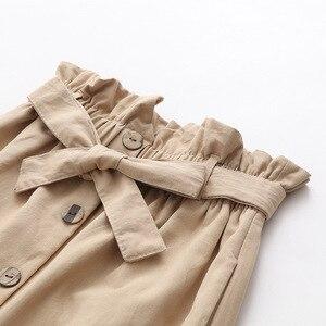 Image 5 - تنورة نسائية صيفية من Lizkova تنورة مفردة الصدر بخصر عالٍ مقاس كبير 2020 بأشرطة أمامية ملابس خروج