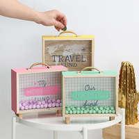 Креативные коробки для денег искусство свежего дерева банк спальня стол украшения разные украшения коробка для хранения аксессуары