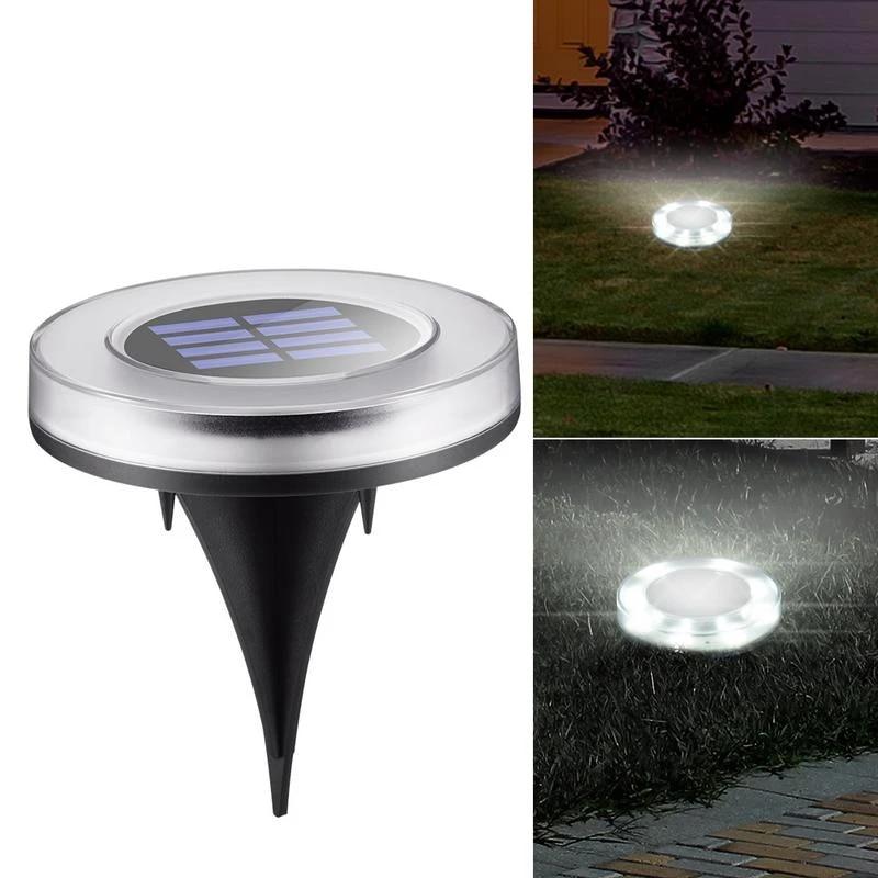 4PCS 8//9 LED Solar Power Buried Light Outdoor Path Garden Lawn Under Ground Lamp