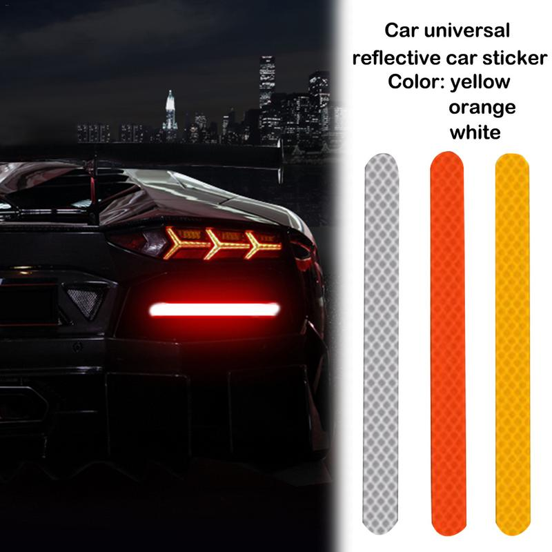 2PCS 1 5x16cm Car Universal Reflective Warning Stickers Strip Mirror Warning Logo Personality Waterproof Decal Accessories in Car Stickers from Automobiles Motorcycles