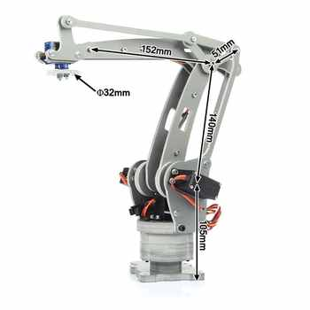 irb460 4-Axis Industrial Robot DIY Control Palletizing Robot Arm Model for Arduino UNO MEGA2560 with Power Supply + Controller - DISCOUNT ITEM  12% OFF All Category