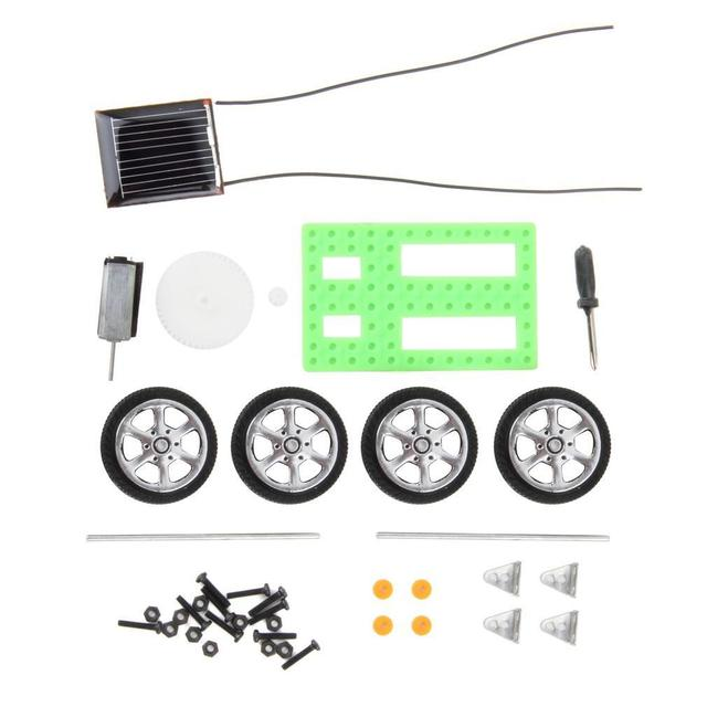 1Pcs Mini Solar Toy DIY Car Children Educational Puzzle IQ Gadget Hobby Robot UL 3