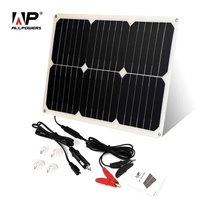 ALLPOWERS Solar Car Battery Charger 12V 18W Portable Solar Car Charger for 12V Car Battery Automobile Motorcycle Boat