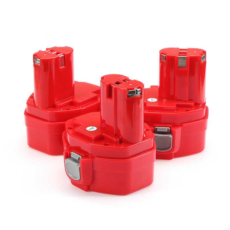 1Pc Red MAK-14.4 Type 14.4V NI-Cd 1.3/1.5/2.0ah Battery for Makita Cordless Drill 1420 1434 Power Tool Replacement