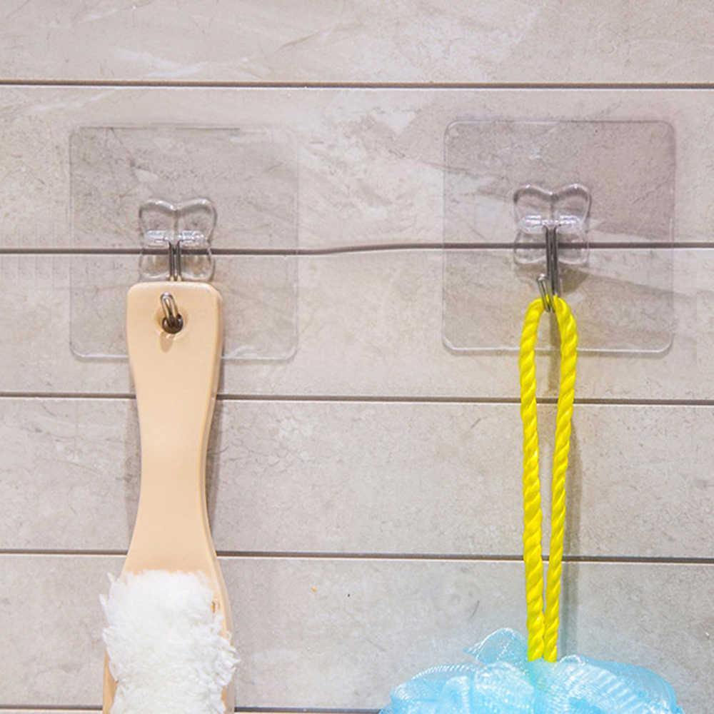 10/6/4/1 Uds. Anzuelos antideslizantes transparentes fuertes autoadhesivos para la pared de la puerta colgadores de toalla soporte para mopa accesorios de baño de cocina