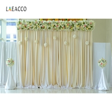 Laeacco  Flowers Wedding Grass Party Floret Curtain Photography Backgrounds Bridal Photographic Backdrops For Photo Studio