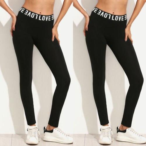 Fashion Women Workout Gym Sports Pants   Leggings   Fitness Stretch Trouser Love Letter   Leggings