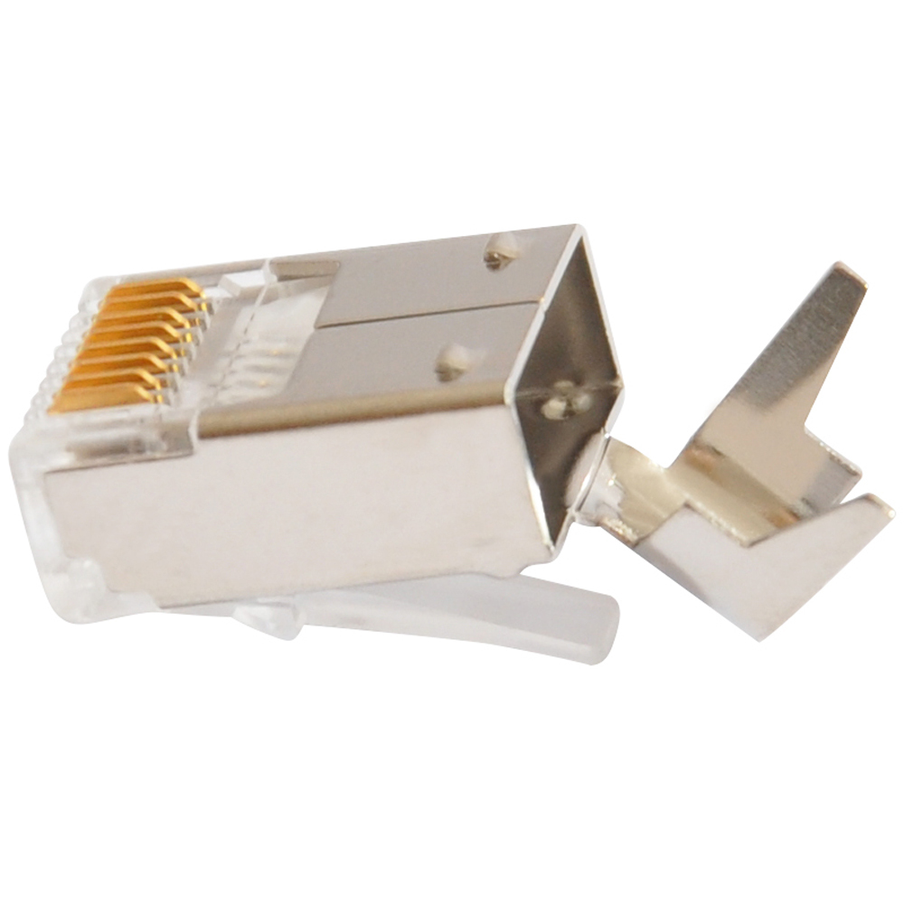 Image 2 - xintylink ethernet cable connector rj45 plug cat6 network rj 45 8p8c modular cat 6 terminals stp shielded gold plated 50u-in Computer Cables & Connectors from Computer & Office