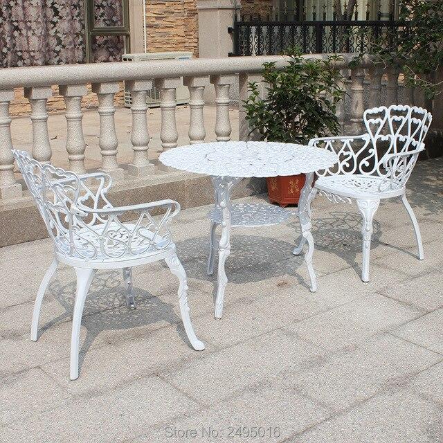 3 piece coulee en aluminium cafe ensemble meubles de patio jardin meubles mobilier d