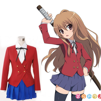 Japanese Anime TIGER DRAGON Toradora Aisaka Taiga Cosplay Costume School Uniform for Girls