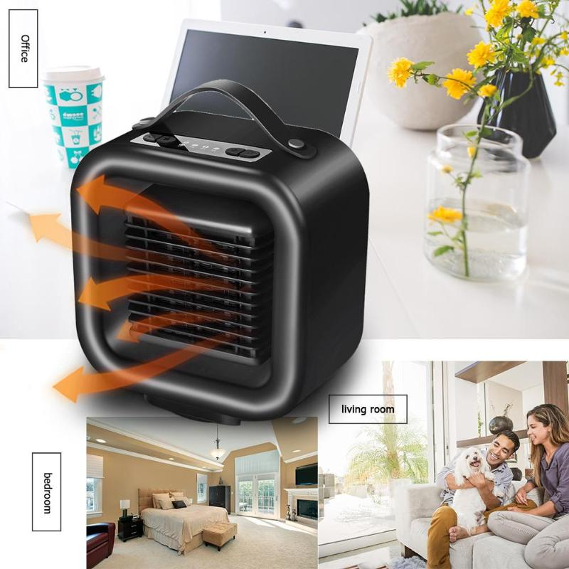 1000W Electric Heater 3 Modes PTC Indoor Heating Fan Heater Portable Smart Space Warming Machine Auto Head Shaking for Winter цена