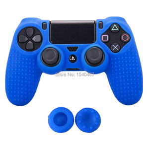 Image 3 - 1PCS Anti slip Silicone Cover Protect Skin Case for Sony Play Station Dualshock 4 PS4 Pro Slim Controller+2Thumb grips accessory
