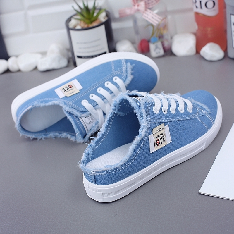 New 2020 Spring Summer Women Canvas Shoes Flat Sneakers Women Casual Shoes Low Upper Lace Up White Shoes