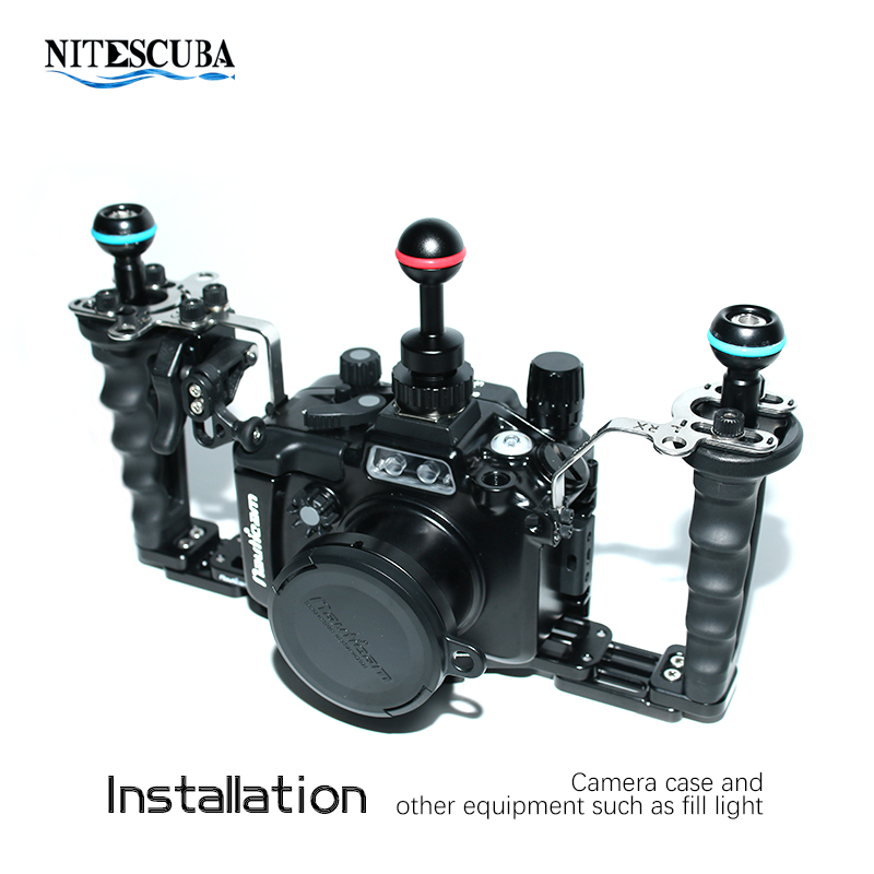 Image 3 - NiteScuba Diving vide light hotshoe Adapter Ball adaptor Mount for RX100 TG5 Camera housing case strobe Underwater Photography-in Sports Camcorder Cases from Consumer Electronics