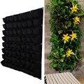 Черный цвет настенные Висячие мешки для посадки 64 кармана сумка для выращивания плантатор вертикальный садовый растительный садовый мешок...