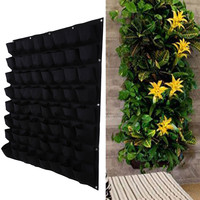 64 Pockets Planting Bags Indoor Outdoor Vertical Gardening Hanging Wall Planter Herbs Seeding Wall Growing Bag 100x100cm 3