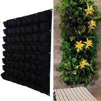 Black Color Wall Hanging Planting Bags 64 Pockets Grow Bag Planter Vertical Garden Vegetable Living Garden Bag Herb Pot 3