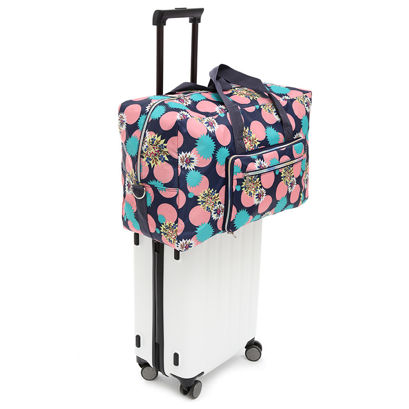 Luggage Duffel Bag for Women Girls Black And White Flowers Floral Large Capacity Portable Weekend Bag Overnight Tote Bag
