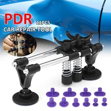 11pcs Car Dent Removal Paintless Dent Repair PDR Tool Puller Bridge Auto Body Panel Lifter Straightening Dents Tool Kit