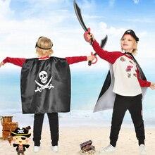 Пираты вечерние украшения ролевые игры плащ костюм пиратский плащ маска нож Мультяшные шляпы Дети Хеллоуин вечеринка в честь Дня рождения поставки