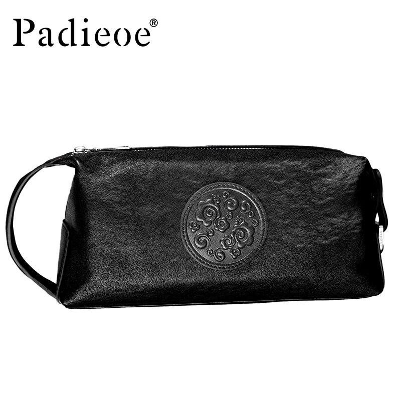 Padieoe bolsa masculina de couro pochette sacs à main et sacs à main de luxe enveloppe mode