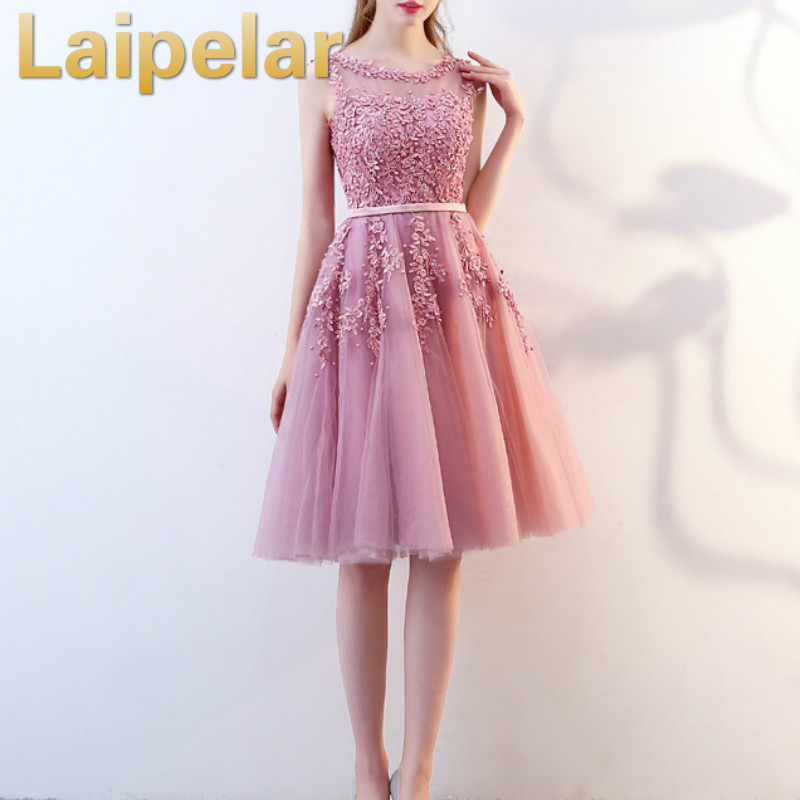 Laipelar 2019 패션 tulle 레이스 이브닝 미디 드레스 우아한 공식적인 가운 웨딩 저녁 파티 드레스 여성 vestido de festa-에서드레스부터 여성 의류 의  그룹 1