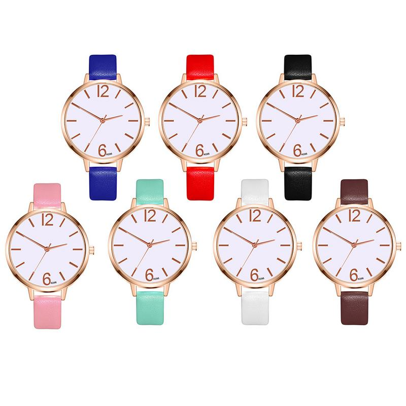Women's Elegant Atmospheric Clothing Accessories Watch Korean Casual Leather Quartz Business Watch Party Gift