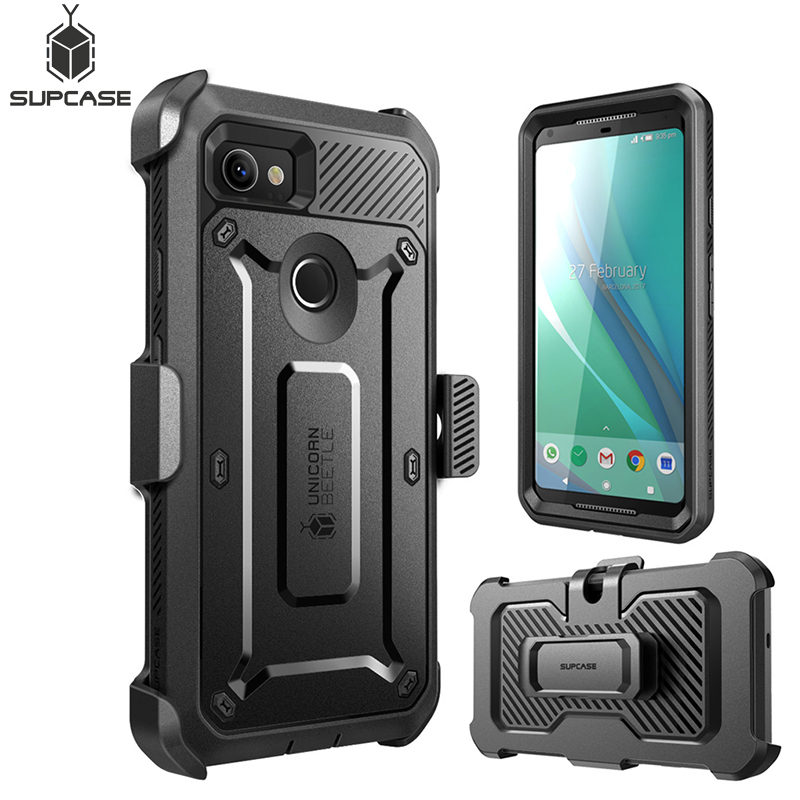 For Google Pixel 2 XL Case UB Pro Full-Body Rugged Holster Clip Protective Case Cover With Built-In Screen Protector