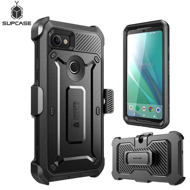 official photos f8b34 6aafa US $17.99 |For Google Pixel 2 XL Case SUPCASE UB Pro Full Body Rugged  Holster Clip Protective Case Cover with Built in Screen Protector-in Fitted  ...