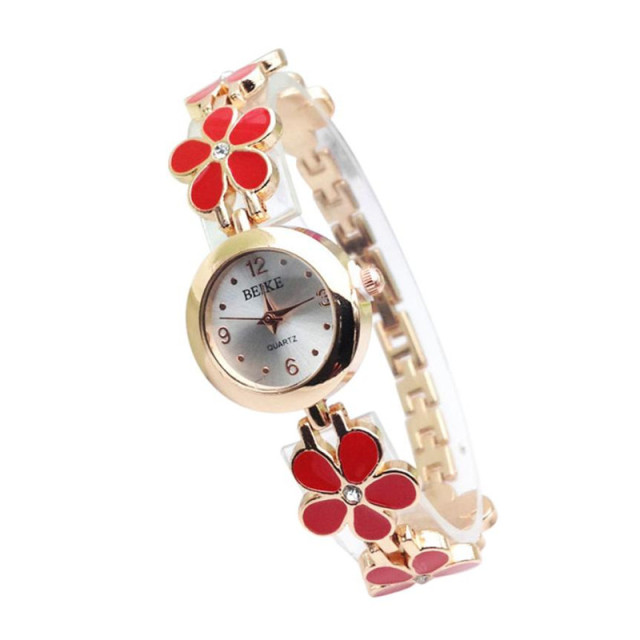 Women Watch Luxury Brand Stainless Steel relogio feminino Rhinestone Flower Allo