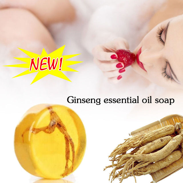 Ginseng Revitalizing Soap Anti Fungus Bath Whitening Skin Lightening Soap  Handmade Face Body 2 In 1 Soap TSLM1 3
