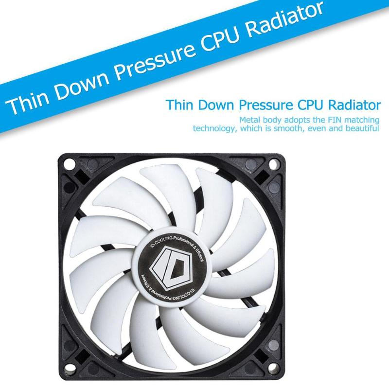 NO-9215 SLIM PWM 92mm Cooling Fan 4pin ID-COOLING 600-2500RPM 15T