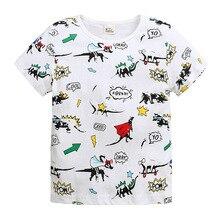 Boys T-shirt summer 2019 kids short-sleeved new cartoon cotton children's clothing baby clothes