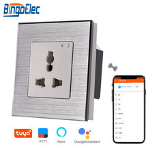 Bingoelec UK 13A универсальная настенная розетка Беспроводная розетка Wi-Fi алюминиевая рамка умный дом автоматизация беспроводной контроль с помощью приложения Tuya