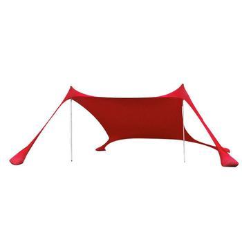 переносная палатка с балдахином | Семья пляжный зонтик легкий тент от солнца с опорами в виде мешков с песком 4 Бесплатный колышки UPF50 + УФ большой переносной навес