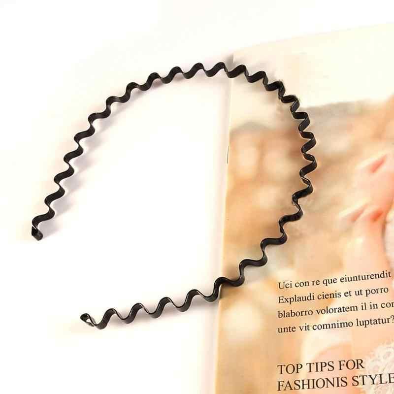 1/5 Uds., diadema de hierro con aro para la cabeza de Metal ondulado en espiral para hombre y mujer, herramientas de peinado para hacer ejercicio, triangulación de envíos