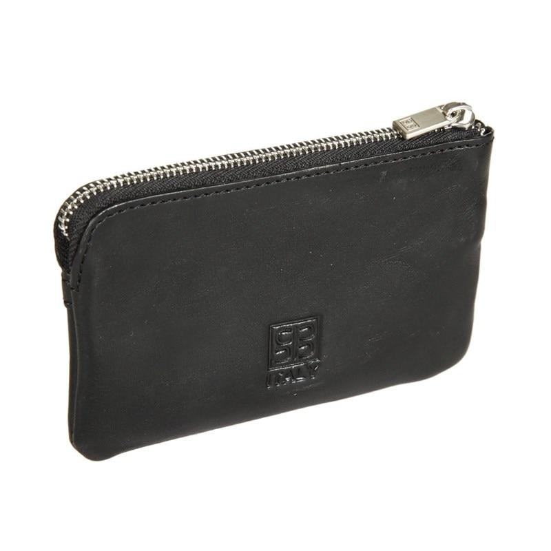 Key Wallets SergioBelotti 359L IRIDO black new fashion design pu leather men wallets card holder long wallet portable cash purses casual standard wallets male clutch bag