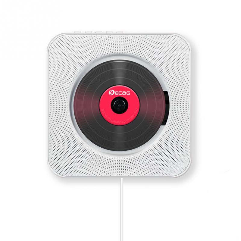 Lecteur CD mural Bluetooth Portable Home Audio Boombox avec télécommande Radio FM haut-parleurs HiFi intégrés USB MP3 - 2